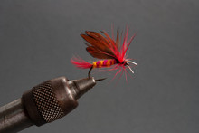 Red And Yellow Dry Fly