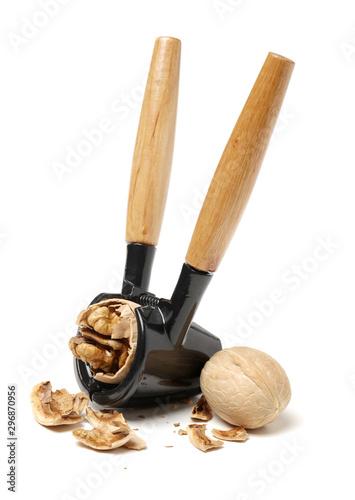 Cuadros en Lienzo  walnuts on a white background