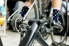 Cycling Training On Bike Train...