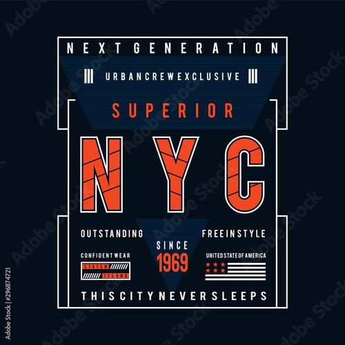 Photo new york city typography design t shirt print,vector illustration