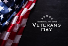 Happy Veterans Day. American F...