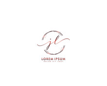 Initial Letter JL Beauty Handwriting Logo Vector