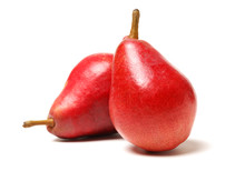 Red Pear Isolated On White Background