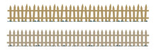 Wooden Repeating Fence In Natu...