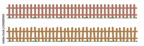 Photo Wooden repeating fence in natural colors