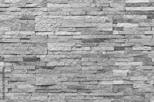 Obraz White natural facade stone decoration quartzite background texture. modern granite stone wall. - fototapety do salonu