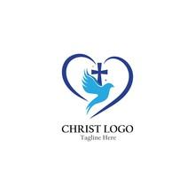 Church Logo Vector Template Creative Icon Design
