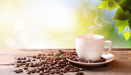creative coffee beans background photo