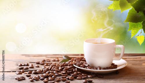 Fototapeta creative coffee beans background photo
