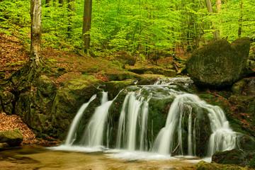 Panel Szklany Wodospad Beautiful Maly waterfall, Czech Republic