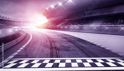 Fotografiet  empty road track scene background