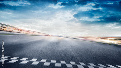 Photo sur Toile F1 empty road track scene background