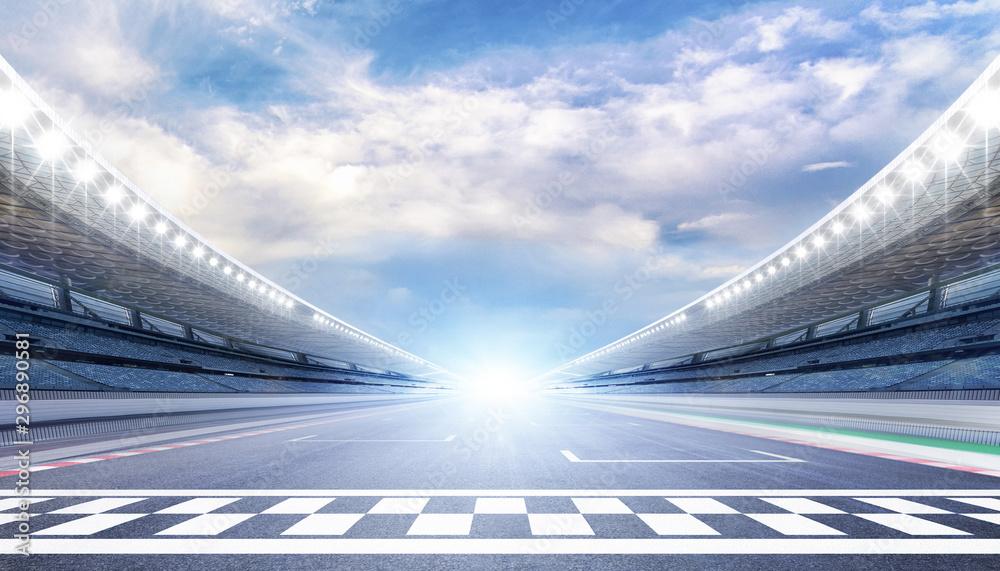 Fototapeta empty road track scene background