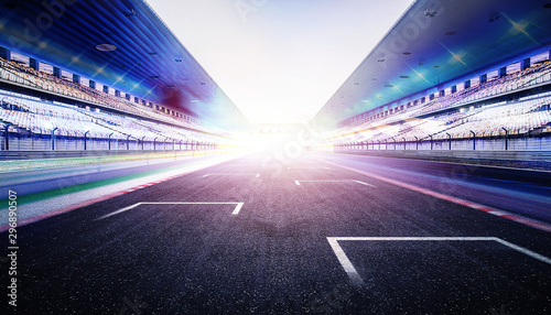 Wall Murals F1 empty road track scene background