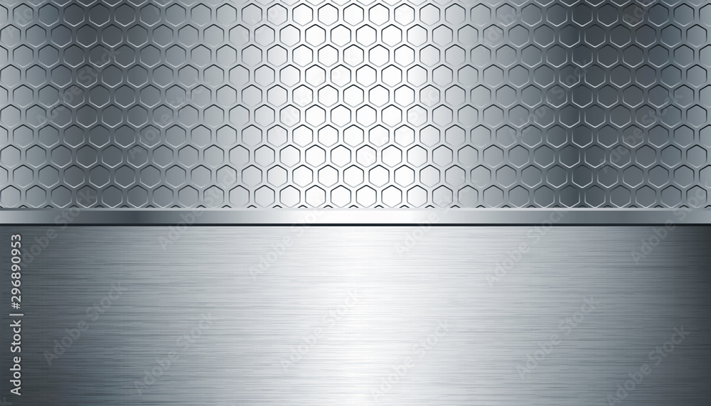 Fototapety, obrazy: creative silver metal texture background