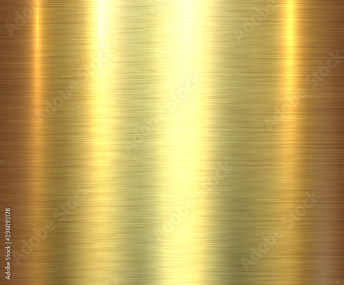 Photo Metal gold texture background, golden brushed metallic texture plate