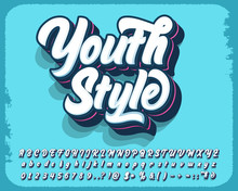 Modern Style Script Font And N...