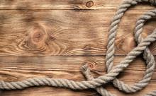 Rope On Brown Wooden Floor Bac...