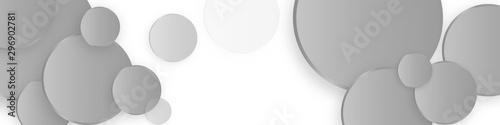 Pinturas sobre lienzo  Hi-tech geometric banner design with grey circle