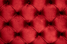 Red Luxury Velour Quilted Sofa...