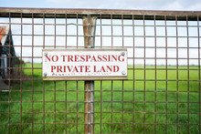 Isolated View Of A No Trespass...