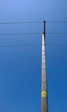 Wooden Telegraph Pole Seen In ...