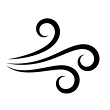 Wind Air Flow Vector Icon