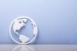 Close-up Of A World Symbol