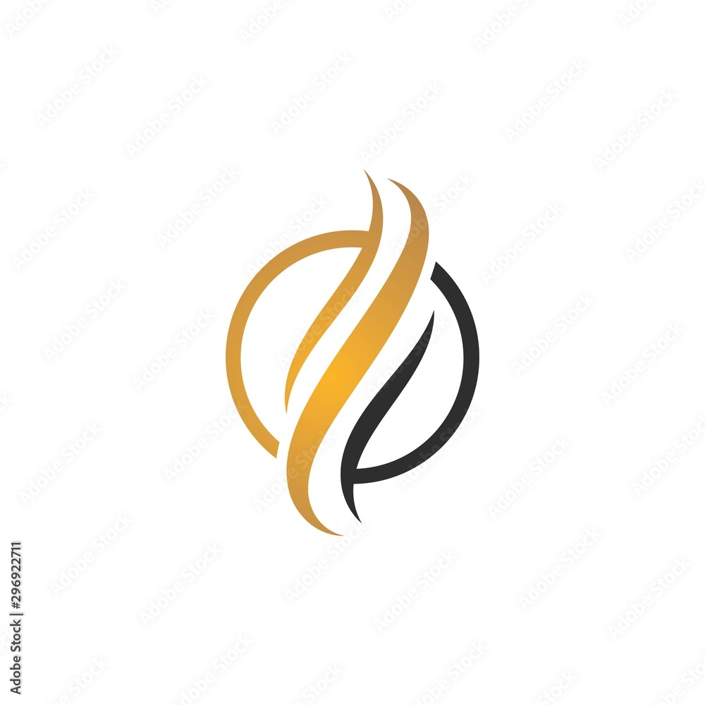 Fototapeta Hair logo template vector icon illustration design