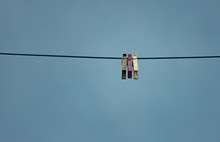 Three Colored Pegs On A Line I...