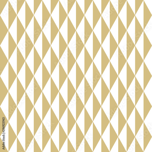 fototapeta na ścianę Geometric vector pattern with golden and white triangles. Geometric modern ornament. Seamless abstract background