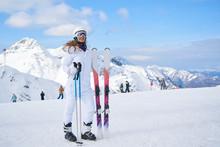 Skier, Skiing, Winter Sport - Portrait Of  Female Skier