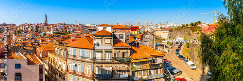 Panorama of the city of Porto in Portugal Fotobehang