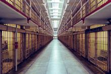 Main Cell Hall In Alcatraz