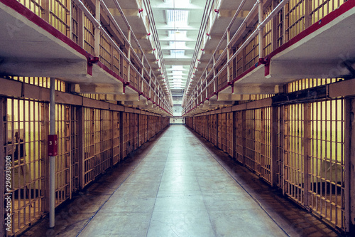 Main Cell Hall in Alcatraz