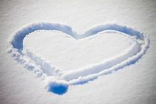 Hearth Shape In Snow - Winter Love