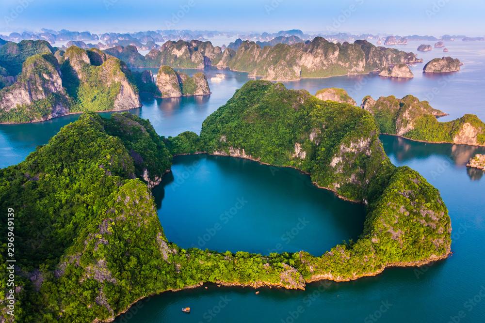 Fototapety, obrazy: Aerial view of Ha Long Bay, Vietnam