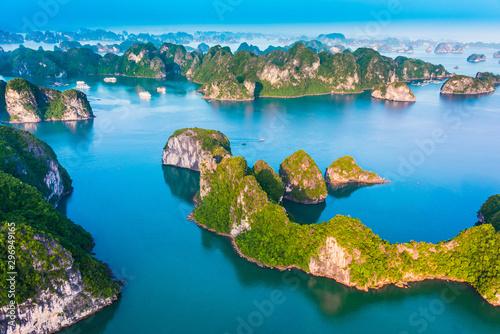 Wallpaper Mural Aerial view of Ha Long Bay, Vietnam