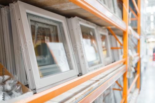Hardware store assortment, shelf with windows Canvas-taulu