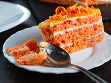 One Bitten Piece Of Carrot Cak...