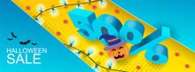 Halloween Sale Banner Design L...