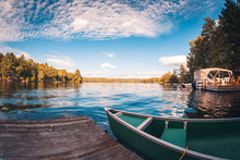 View From The Dock Of A Lake H...