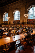 NEW YORK AUGUST 16 2019: New York Library Reading Room