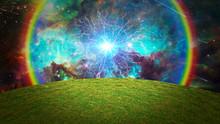 Energy Burst Over Green Field....