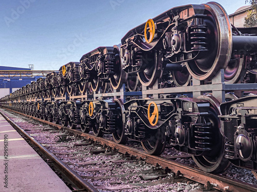 New bogies for freight wagons Wallpaper Mural