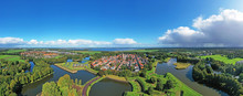 Aerial Panorama From The Medieval City Naarden In The Netherlands