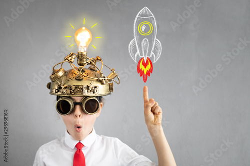 Obraz Education, start up and business idea concept - fototapety do salonu