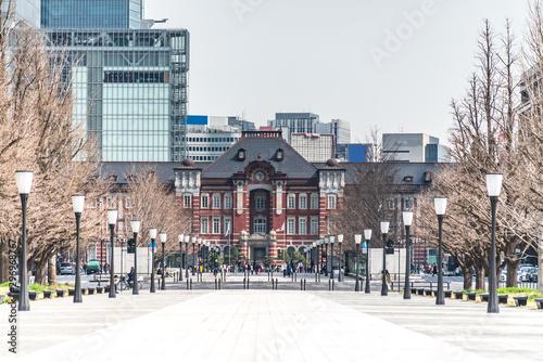 Obraz na plátně  TOKYO, JAPAN - March 25 2019: Tokyo Station in Tokyo, Japan