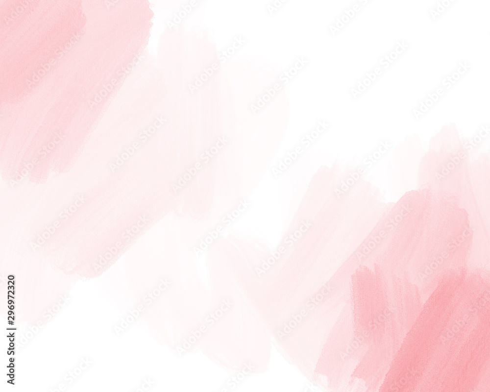 Fototapeta Water color, pink, white background, used as a background in the wedding and other tasks.