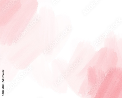 Water color, pink, white background, used as a background in the wedding and other tasks. - 296972320
